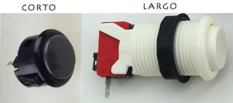 botones largos y cortos