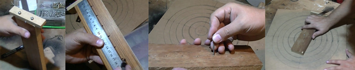 herramienta casera para ranurar madera en circulo