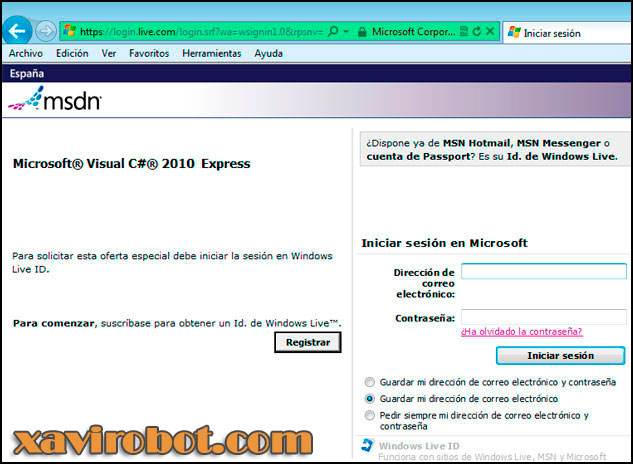 Obtener clave de visual studio c# sharp