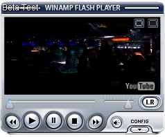 winamp flash radio and video player