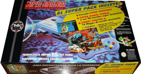Super nintendo Super Pack Super Mario World y Street Fighter 2
